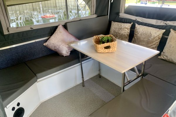 Convertible U-Shape Lounge with Folding and Removable Table